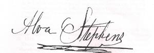 Alva Stephens signature