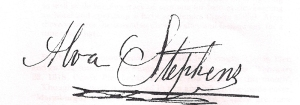 Alva Stephens signature