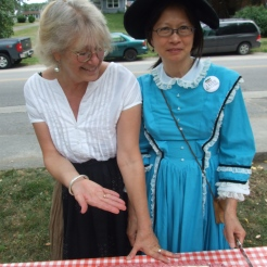 Athol Recreation Secretary Janet Davies and Treasurer Lily Lee