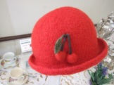 Lovely hat made by Carol King and raffled off to the lucky winner!