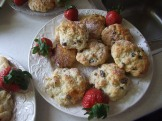 Delicious scones home-baked by volunteers.