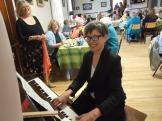 Our delightful pianist Celia Sage.