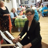 Our delightful pianist Celia Sage.