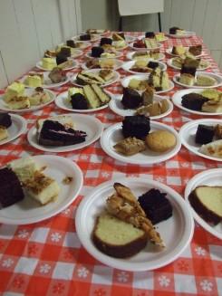 Wonderful community baked cakes. Thank you bakers!