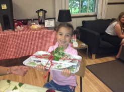 Lauren Shanahan visiting from Montreal loved her 1st Strawberry Social and won the wonderful Strawberry tray set!
