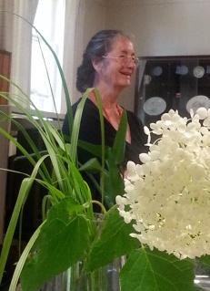 Jutta,  our  flower guide.