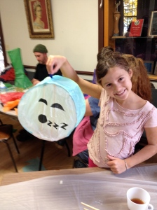 Happy lantern maker with her sleepy moon!