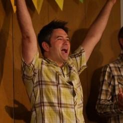An exuberant Paul!