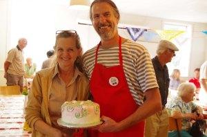 Glen Wallis and Raffle Cake Winner!